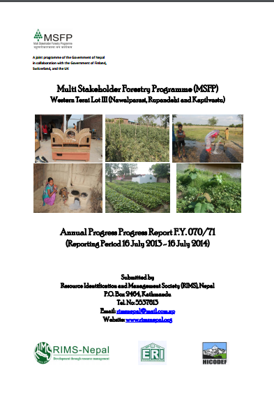 Annual progress report 70/71
